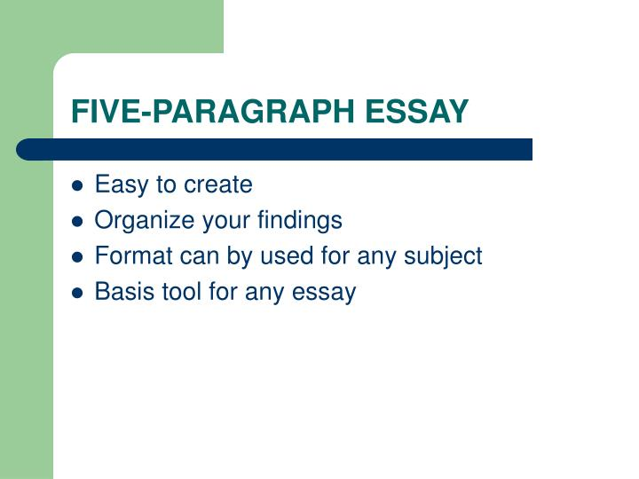 5 paragraph essay esl The five-paragraph essay is a format of essay having five paragraphs: one introductory paragraph, three body paragraphs with support and development, and one concluding paragraph.