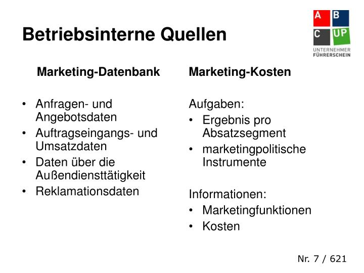Marketing-Datenbank