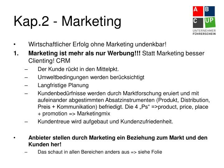 Kap.2 - Marketing