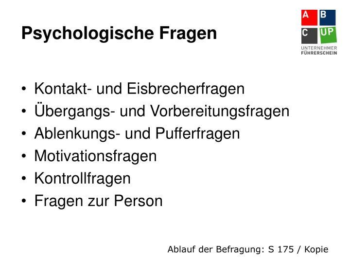 Psychologische Fragen