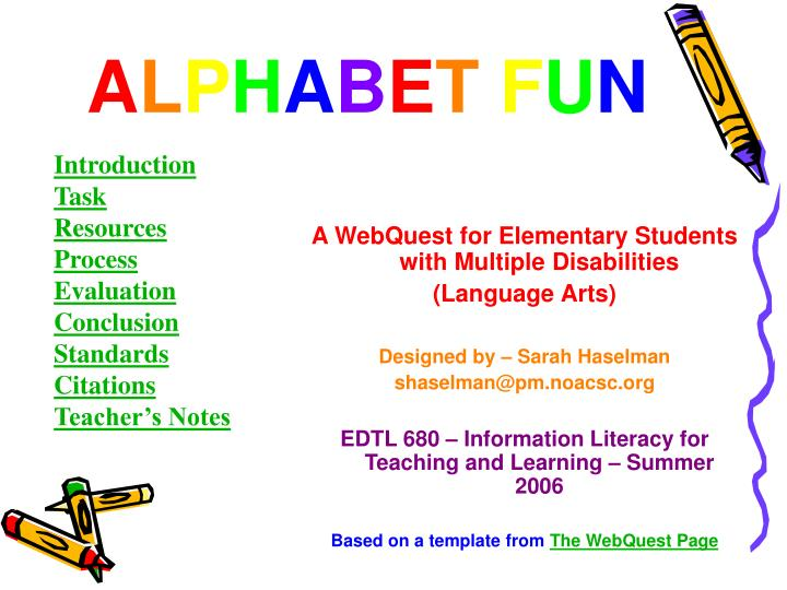 A WebQuest for Elementary Students with Multiple Disabilities