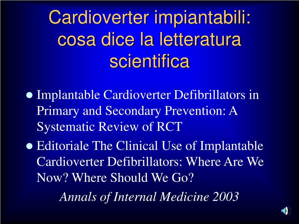 Cardioverter impiantabili: