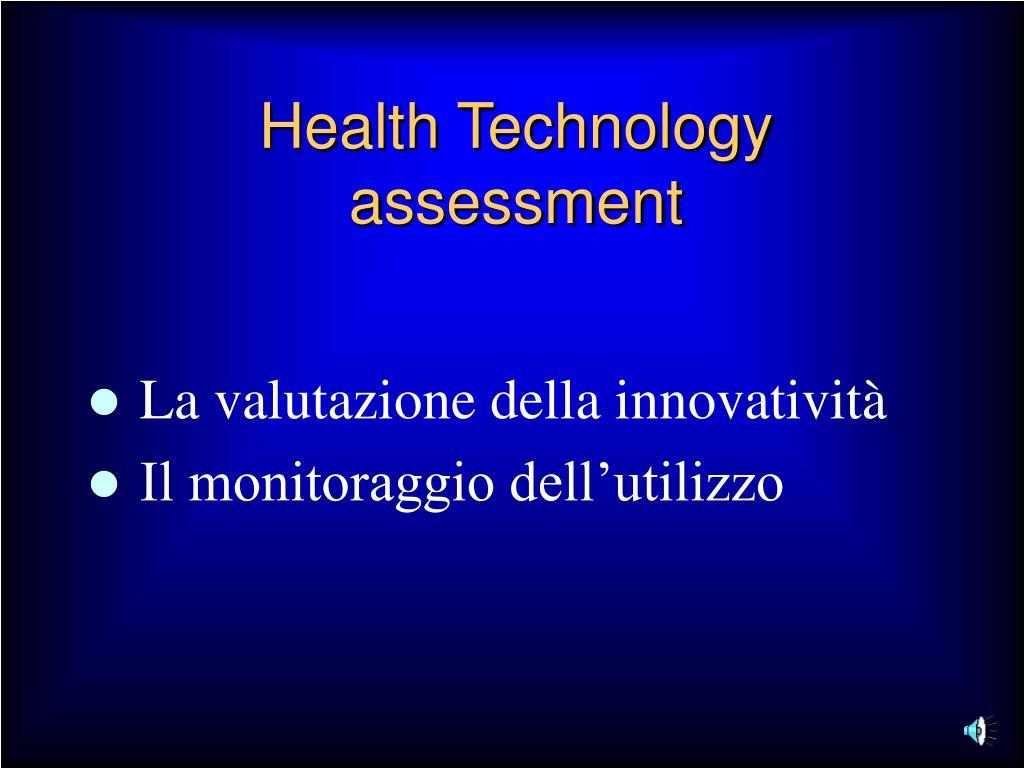 Health Technology assessment