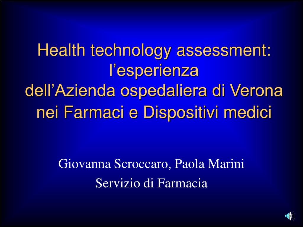 Health technology assessment: