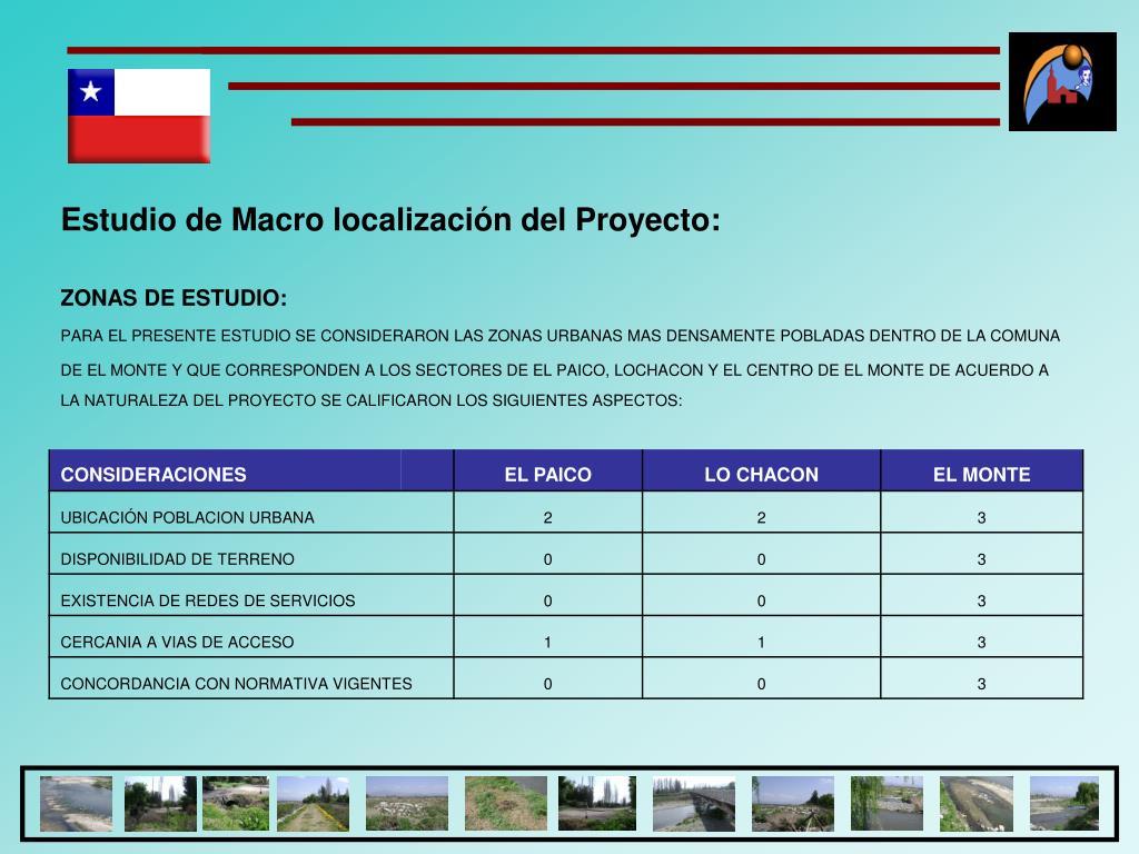 Estudio de Macro localización del Proyecto: