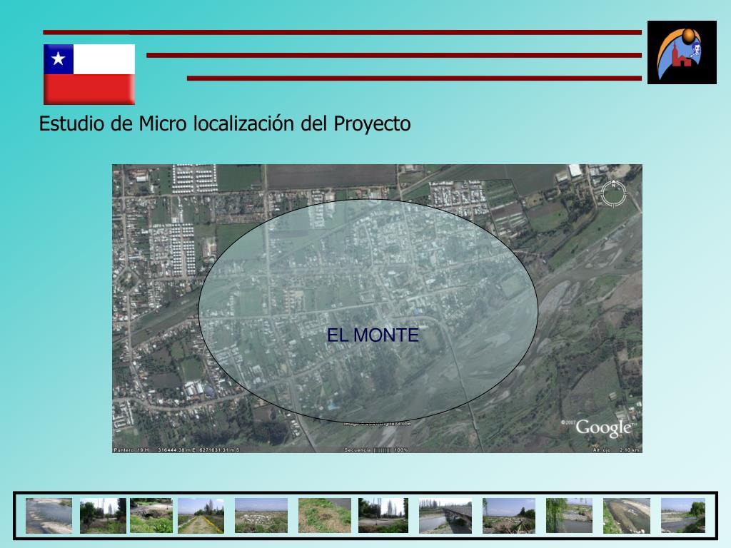 Estudio de Micro localización del Proyecto