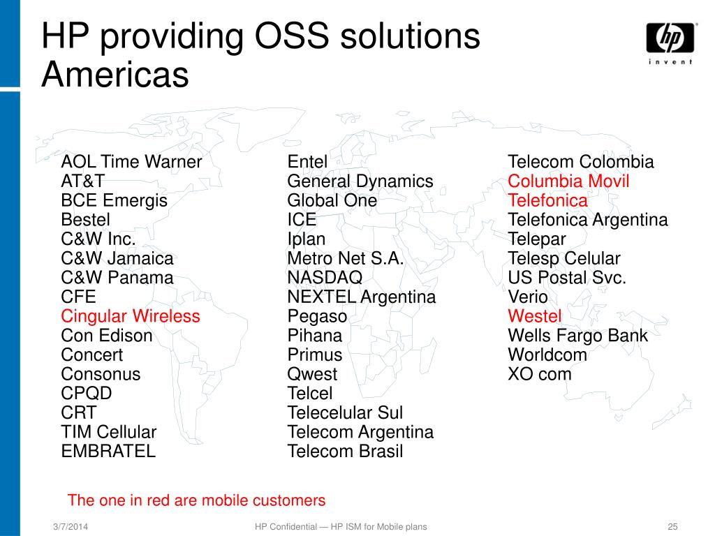 HP providing OSS solutions