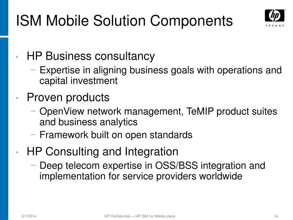 ISM Mobile Solution Components