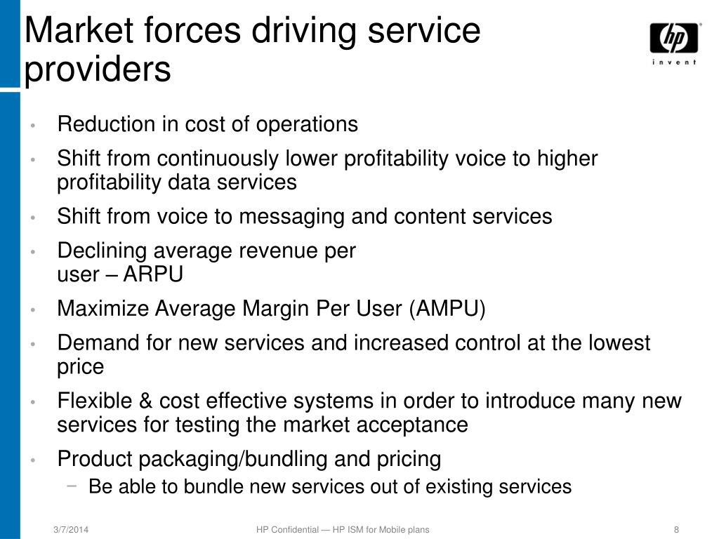 Market forces driving service providers
