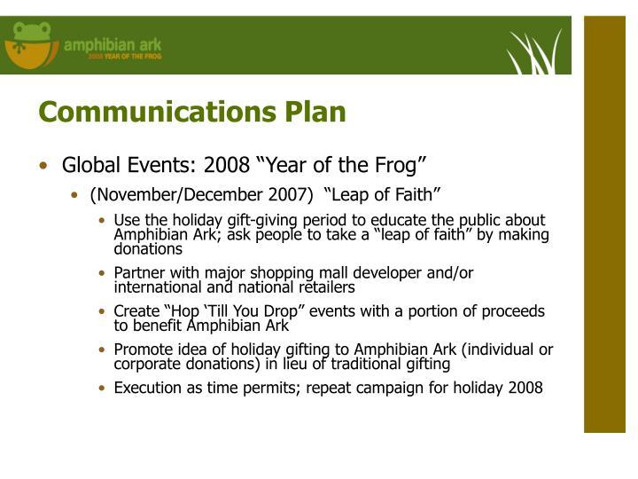 Communications Plan