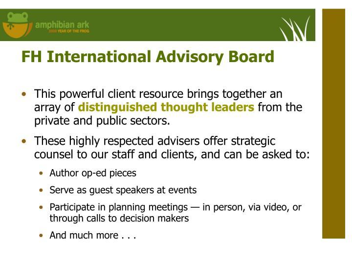 FH International Advisory Board