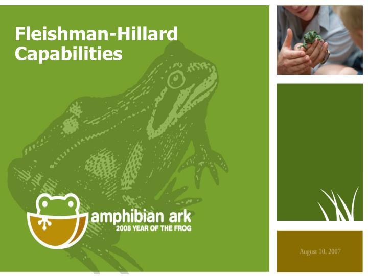 Fleishman-Hillard Capabilities