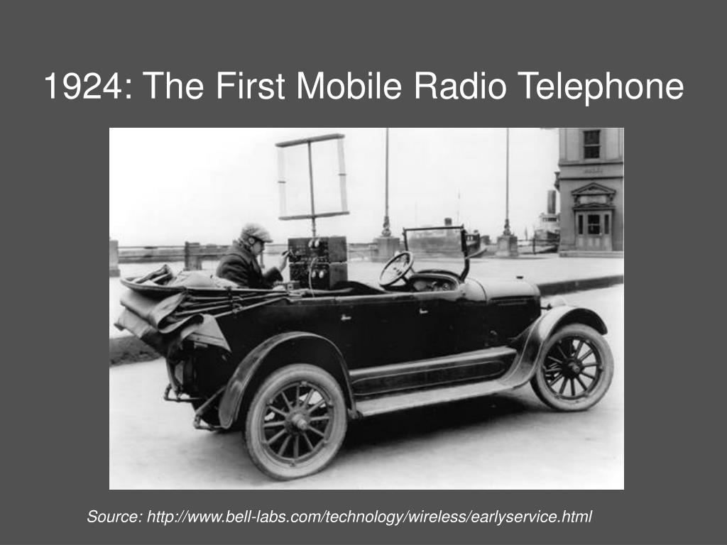 1924: The First Mobile Radio Telephone
