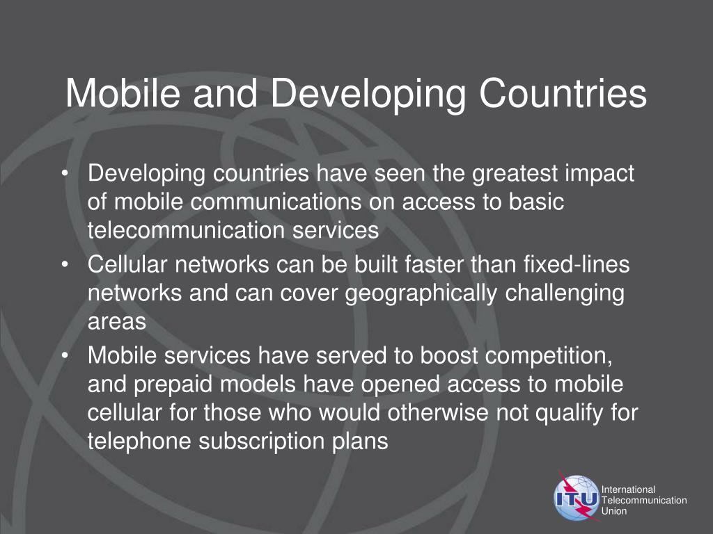 Mobile and Developing Countries