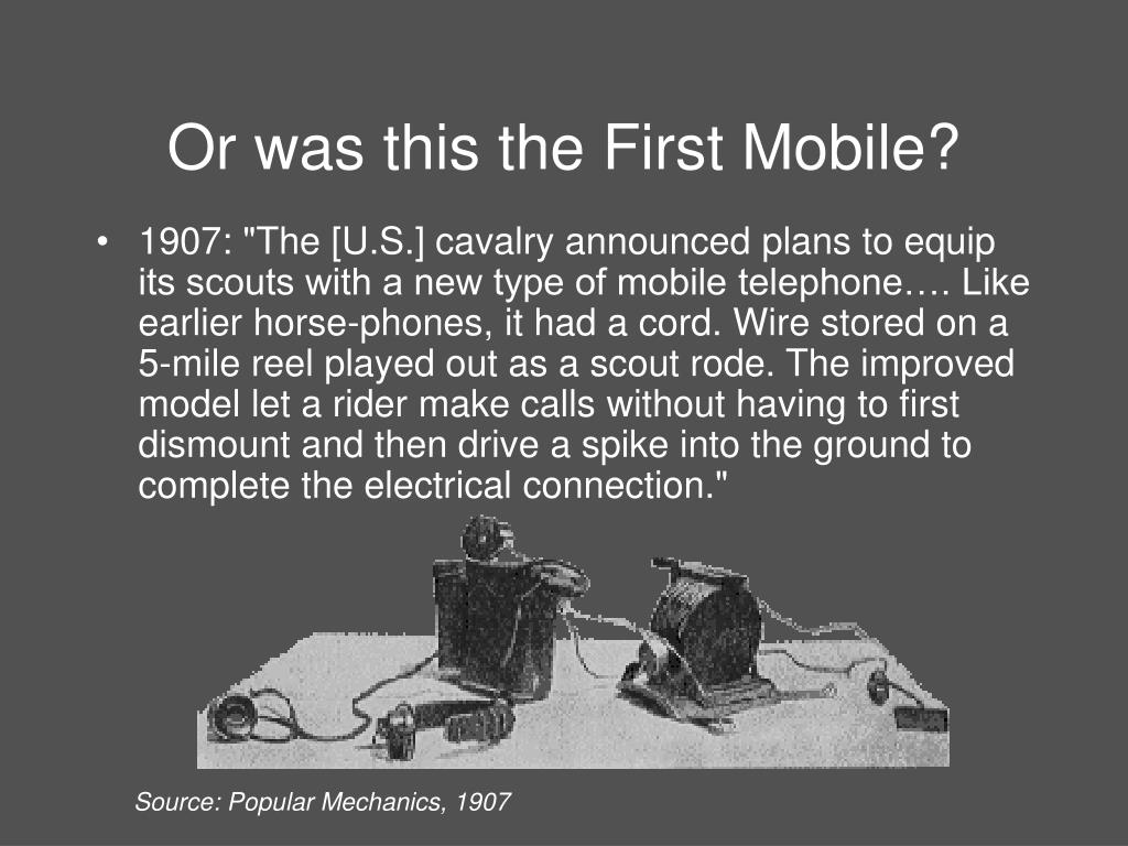 Or was this the First Mobile?