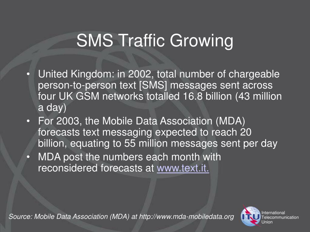 SMS Traffic Growing