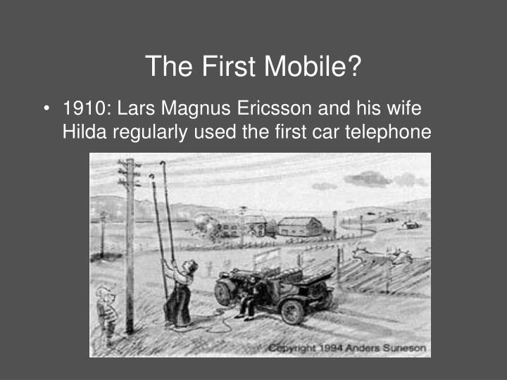 The first mobile