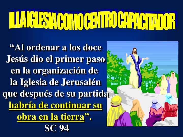 II. LA IGLESIA COMO CENTRO CAPACITADOR