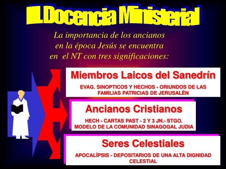 III. Docencia  Ministerial