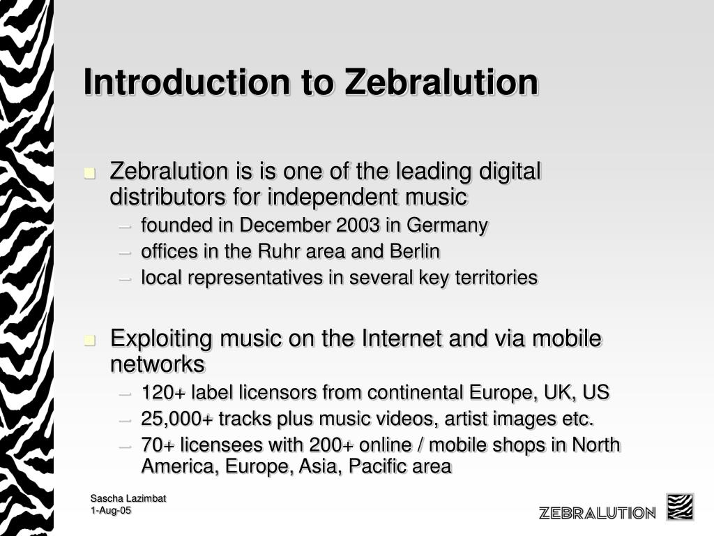 Introduction to Zebralution