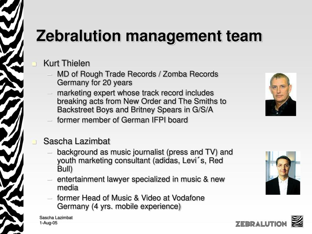 Zebralution management team