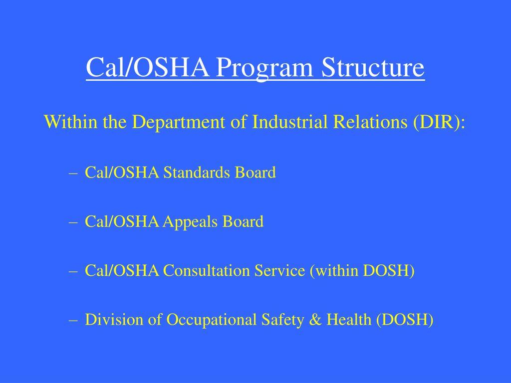 Cal/OSHA Program Structure