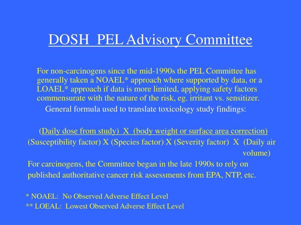 DOSH  PEL Advisory Committee