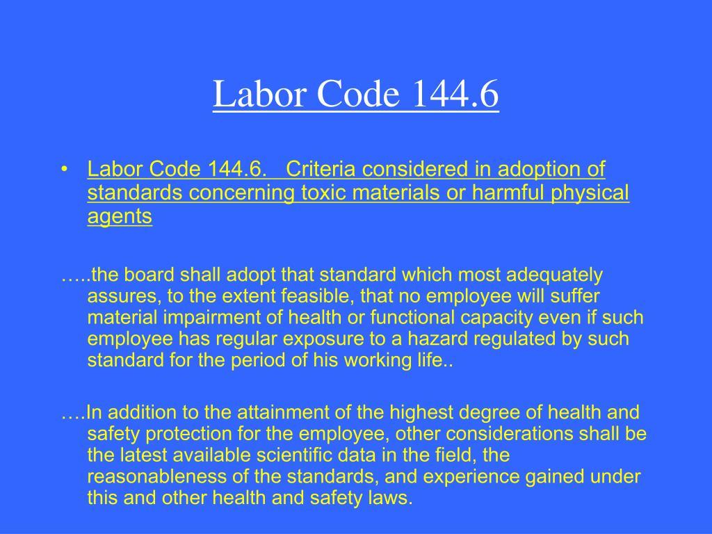 Labor Code 144.6