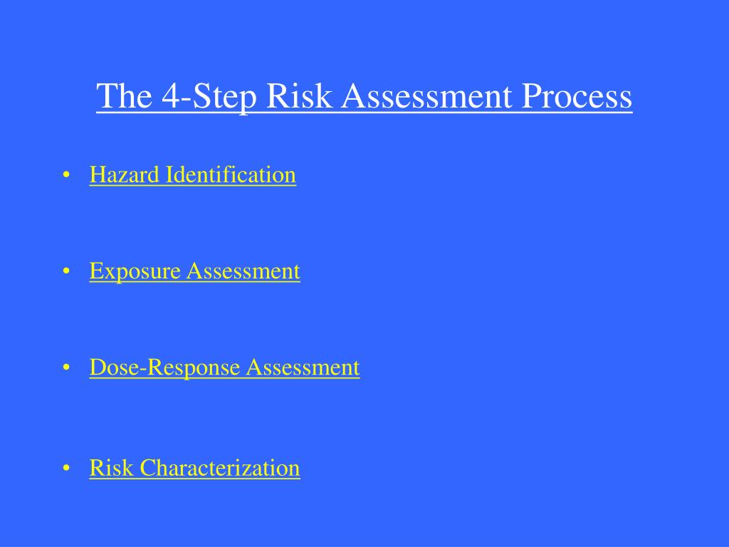 The 4-Step Risk Assessment Process