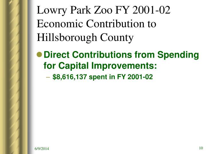 Lowry Park Zoo FY 2001-02