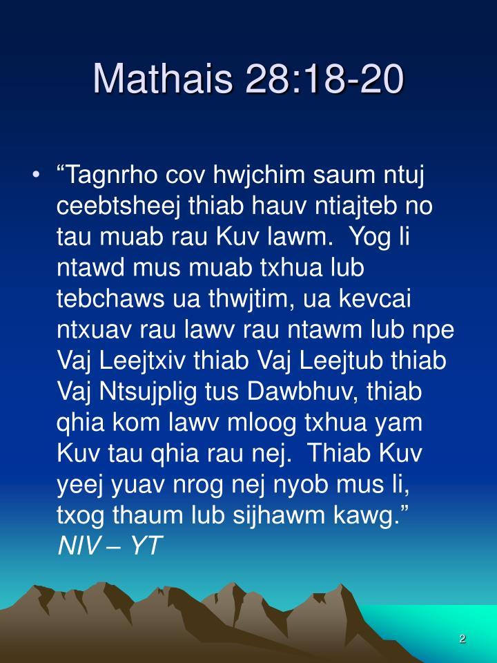 Mathais 28:18-20