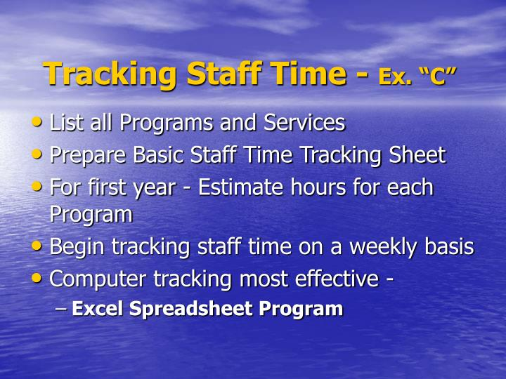 Tracking Staff Time -