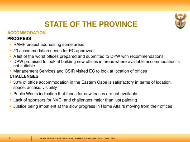 State of the province