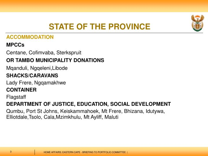 State of the province3