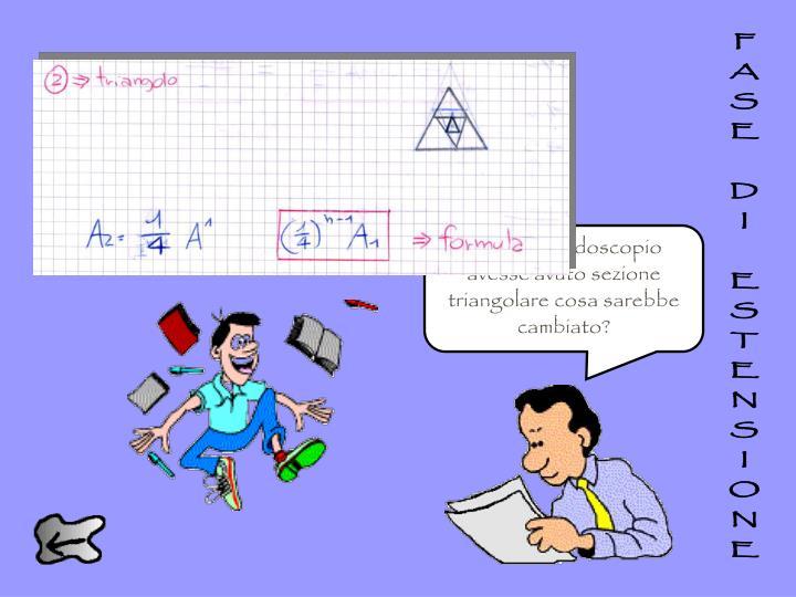 Hmm… ogni triangolo viene diviso in quattro triangoli equivalenti attraverso la costruzione utilizzata. Pertanto…