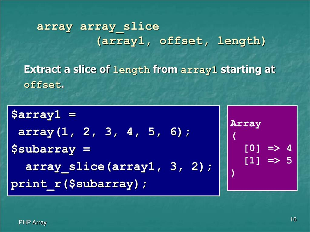array array_slice
