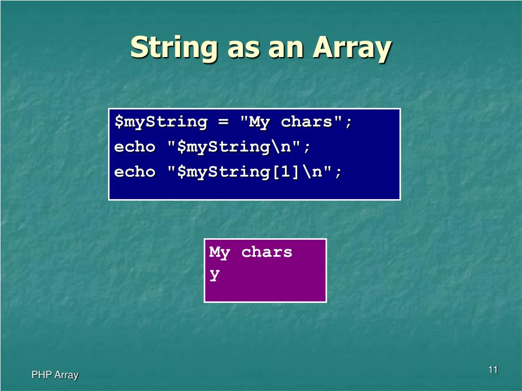 String as an Array