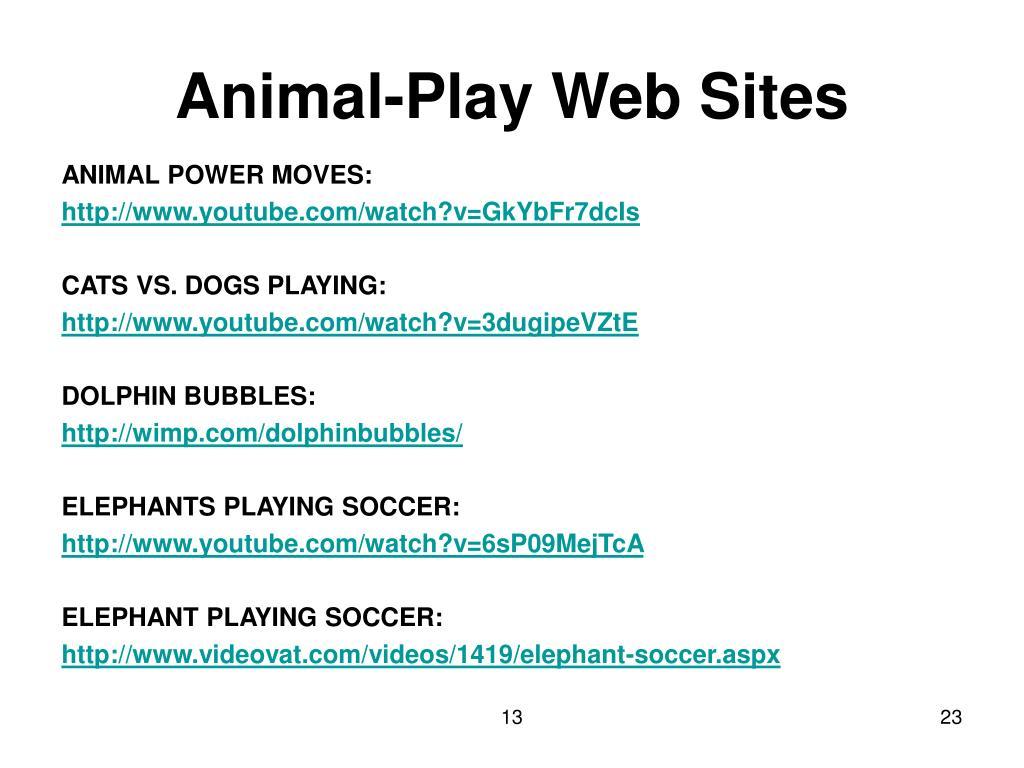 Animal-Play Web Sites