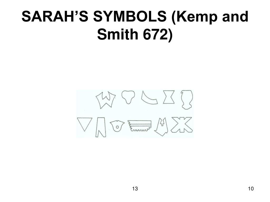 SARAH'S SYMBOLS (Kemp and Smith 672)