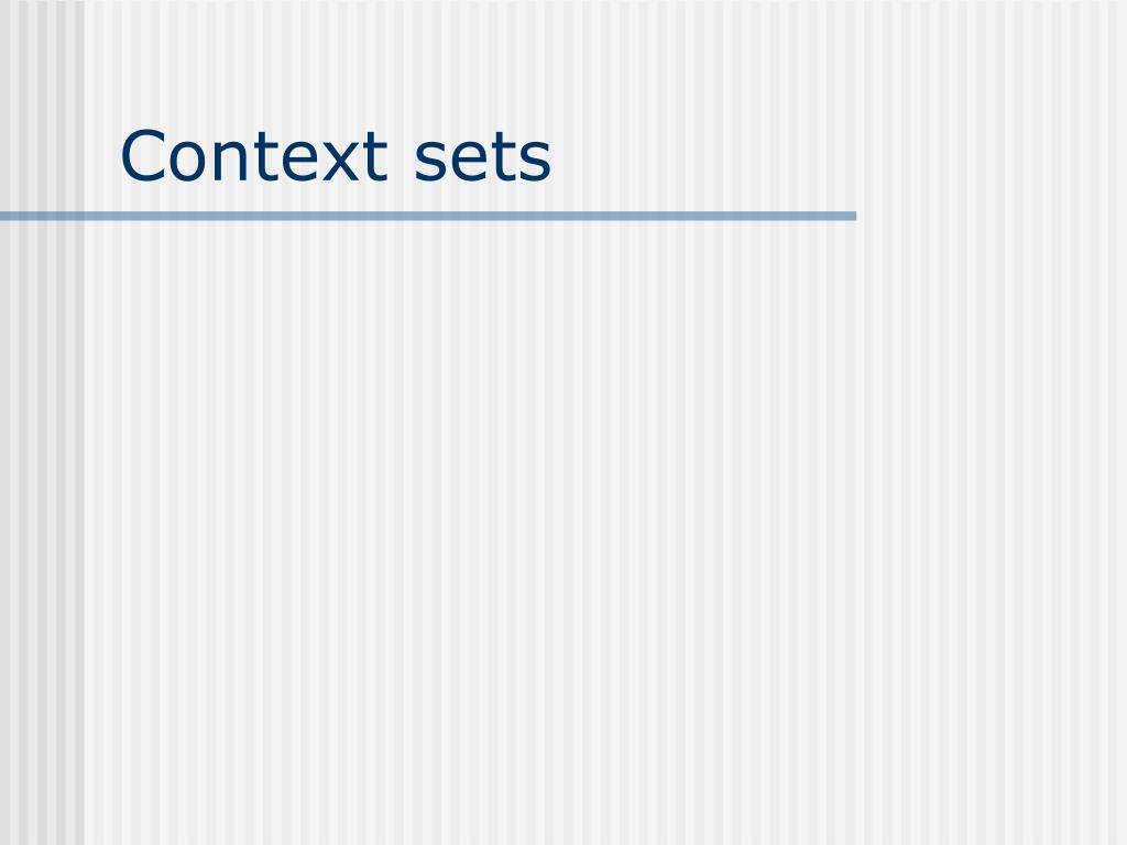 Context sets