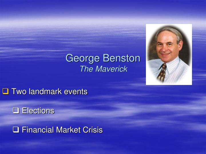 George benston the maverick