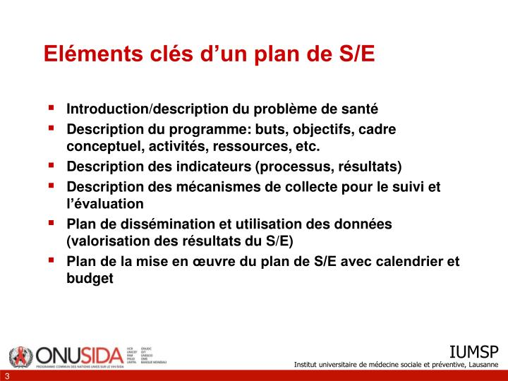 El ments cl s d un plan de s e