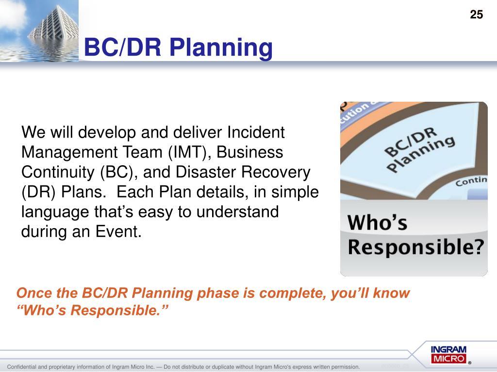 BC/DR Planning
