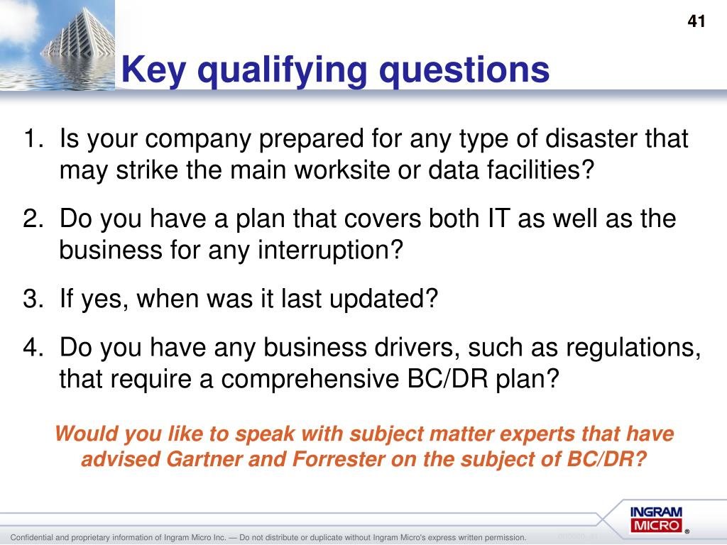 Key qualifying questions
