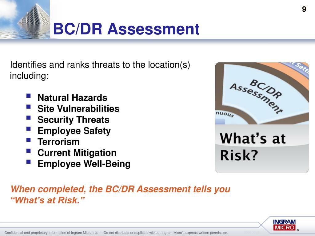 BC/DR Assessment