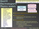 geant4 electromagnetic physics models