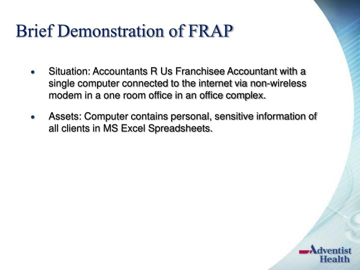 Brief Demonstration of FRAP