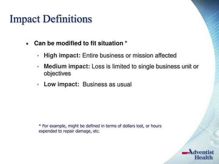 Impact Definitions