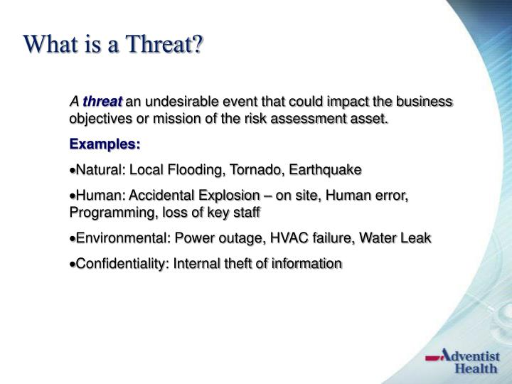 What is a Threat?
