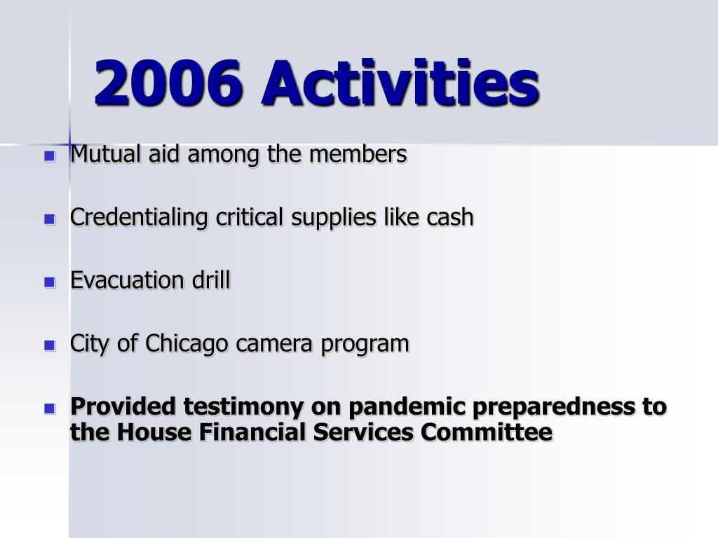 2006 Activities